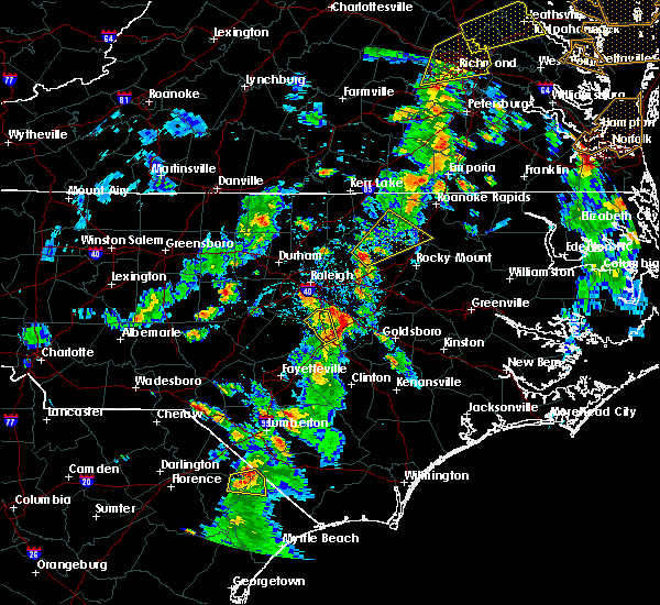 Radar Image for Severe Thunderstorms near Hollister, NC at 6/5/2019 4:41 PM EDT