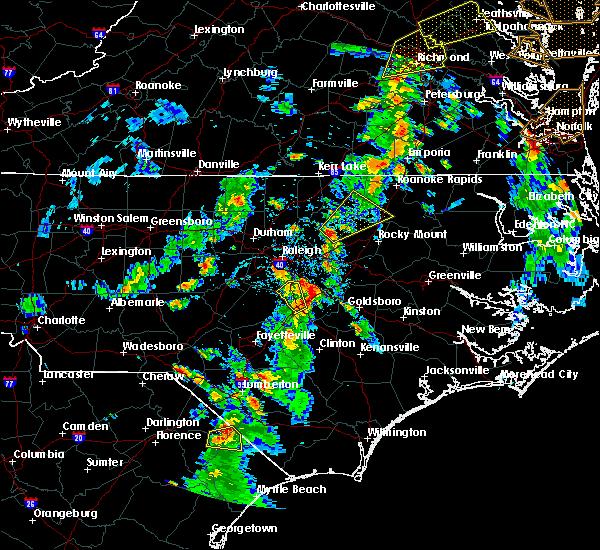 Radar Image for Severe Thunderstorms near Benson, NC at 6/5/2019 4:45 PM EDT