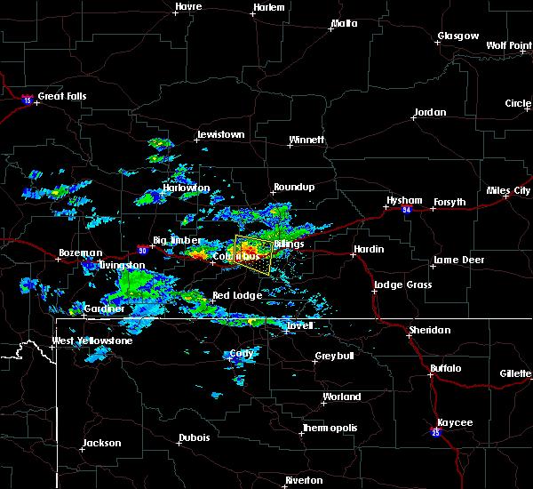 Radar Image for Severe Thunderstorms near Billings, MT at 6/16/2015 5:45 PM MDT