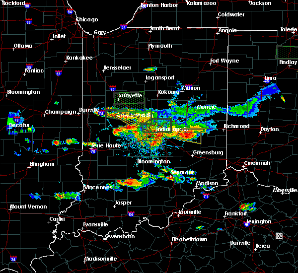 Radar Image for Severe Thunderstorms near Laurel, IN at 6/5/2019 4:56 PM EDT