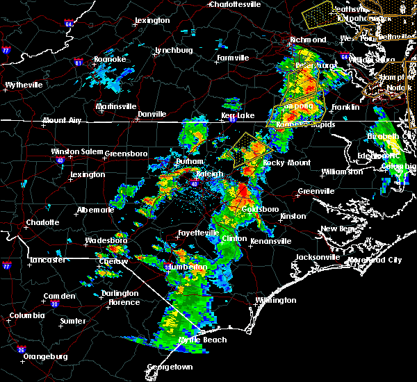 Radar Image for Severe Thunderstorms near Wilson, NC at 6/5/2019 5:17 PM EDT