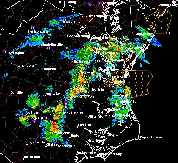 Radar Image for Severe Thunderstorms near Heathsville, VA at 6/5/2019 5:18 PM EDT