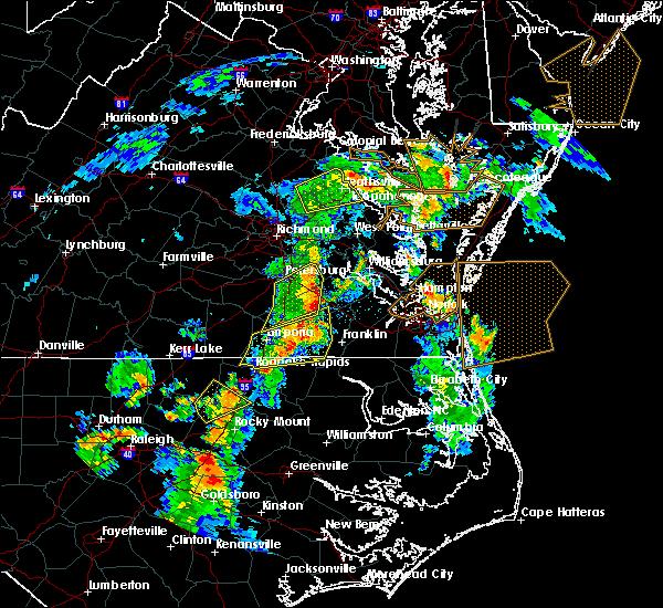 Radar Image for Severe Thunderstorms near Boykins, VA at 6/5/2019 5:19 PM EDT