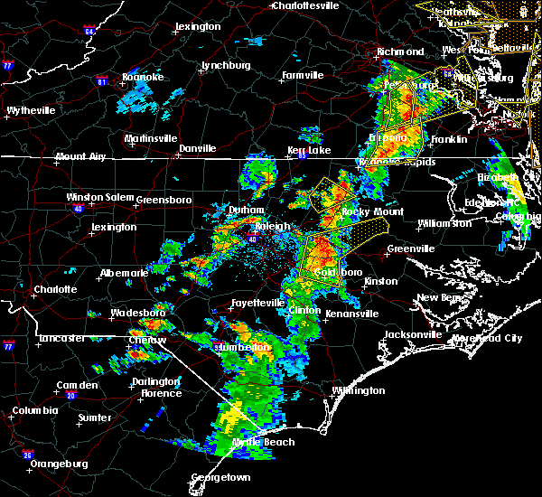 Radar Image for Severe Thunderstorms near Wilson, NC at 6/5/2019 5:26 PM EDT