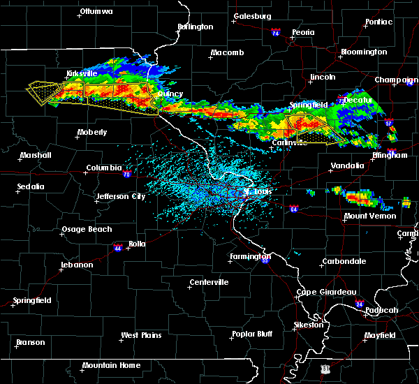 Radar Image for Severe Thunderstorms near Hannibal, MO at 6/5/2019 4:30 PM CDT