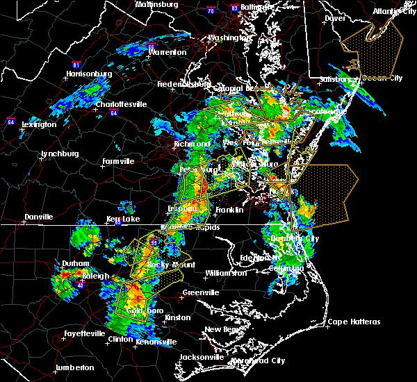 Radar Image for Severe Thunderstorms near Boykins, VA at 6/5/2019 5:32 PM EDT