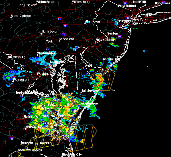 Radar Image for Severe Thunderstorms near Sea Isle City, NJ at 6/5/2019 5:36 PM EDT