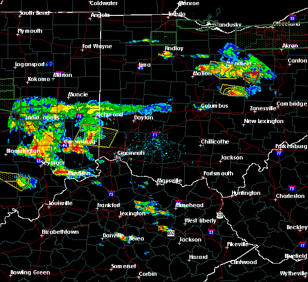 Radar Image for Severe Thunderstorms near Seven Mile, OH at 6/5/2019 5:46 PM EDT