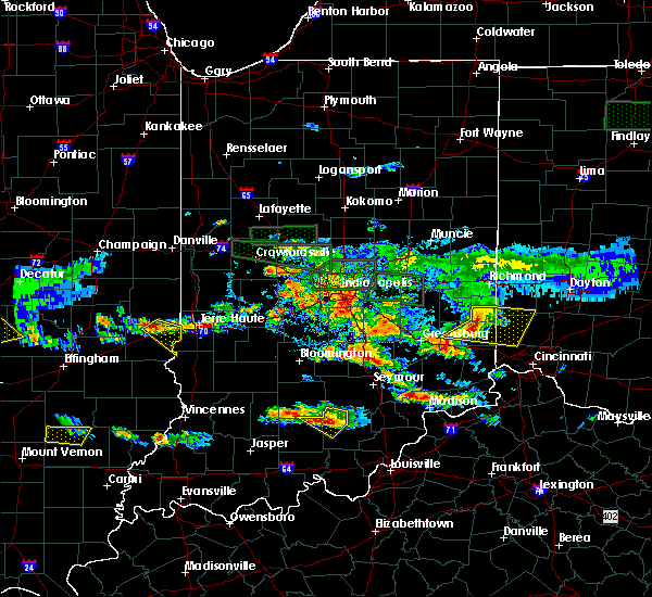 Radar Image for Severe Thunderstorms near Terre Haute, IN at 6/5/2019 5:52 PM EDT