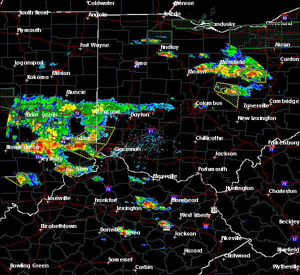 Radar Image for Severe Thunderstorms near Seven Mile, OH at 6/5/2019 5:58 PM EDT