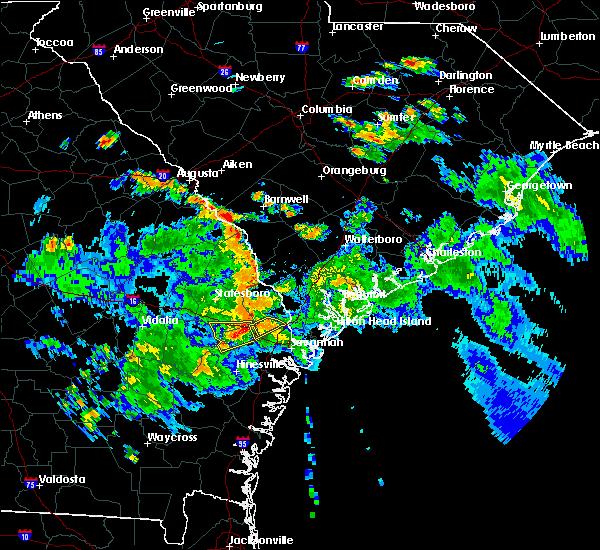 Radar Image for Severe Thunderstorms near Pembroke, GA at 6/5/2019 5:59 PM EDT