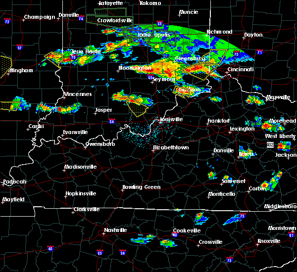 Radar Image for Severe Thunderstorms near Carrollton, KY at 6/5/2019 6:09 PM EDT