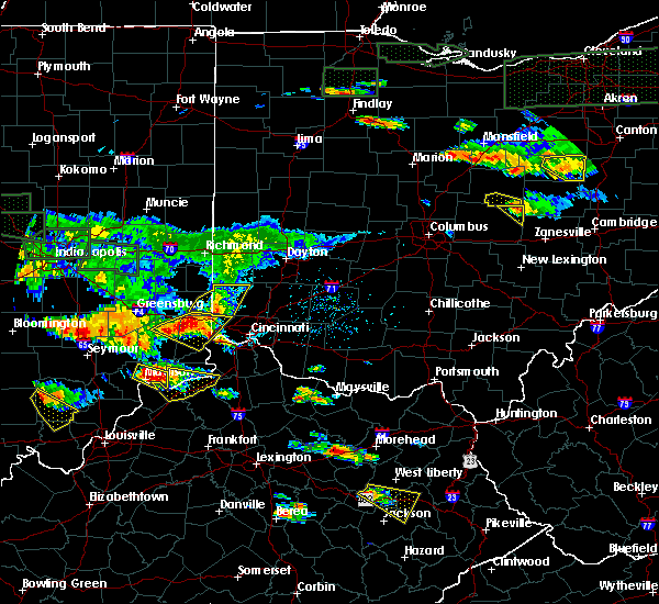 Radar Image for Severe Thunderstorms near Seven Mile, OH at 6/5/2019 6:14 PM EDT