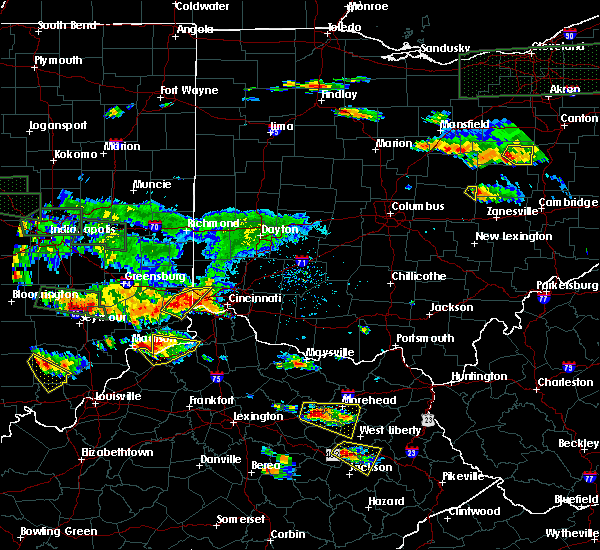 Radar Image for Severe Thunderstorms near Cincinnati, OH at 6/5/2019 6:26 PM EDT