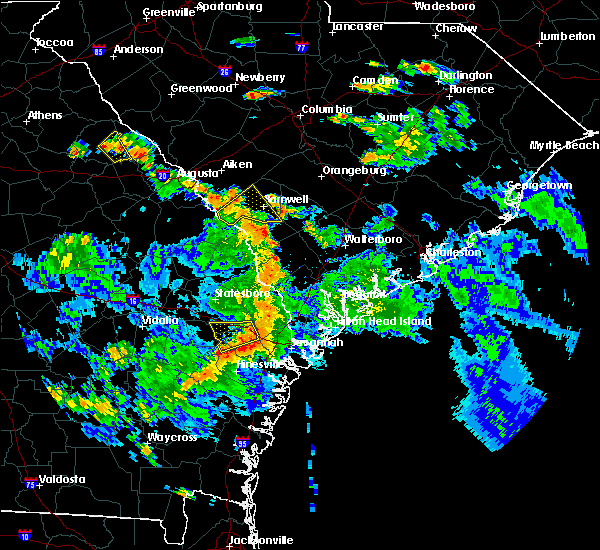Radar Image for Severe Thunderstorms near Pembroke, GA at 6/5/2019 6:28 PM EDT
