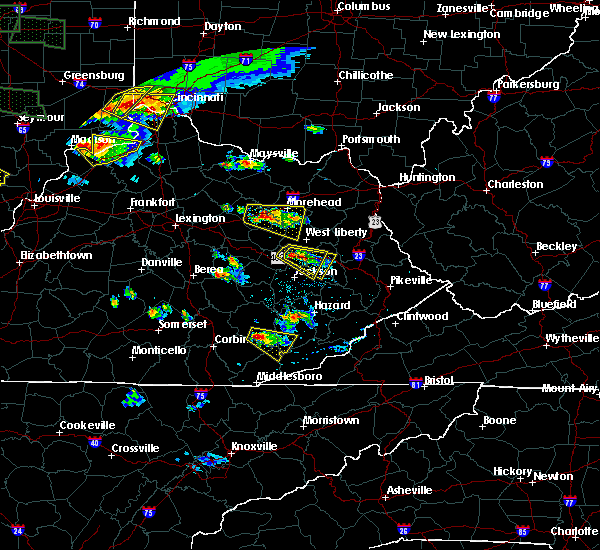 Radar Image for Severe Thunderstorms near Hazel Green, KY at 6/5/2019 6:31 PM EDT