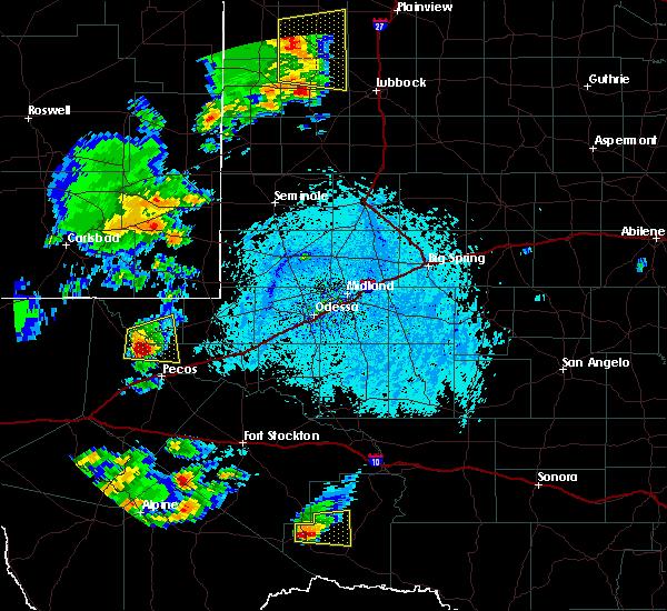 Radar Image for Severe Thunderstorms near Mentone, TX at 6/5/2019 5:33 PM CDT