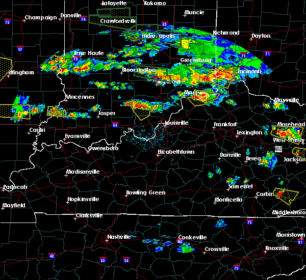 Radar Image for Severe Thunderstorms near Carrollton, KY at 6/5/2019 6:39 PM EDT