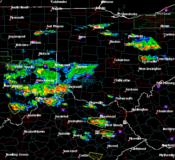 Radar Image for Severe Thunderstorms near Cincinnati, OH at 6/5/2019 6:45 PM EDT