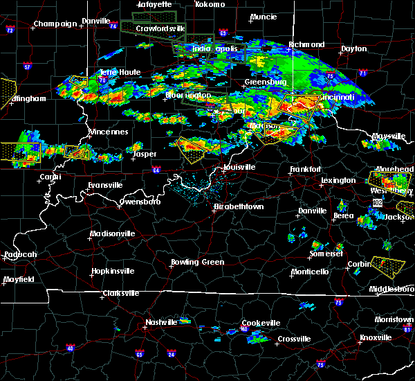 Radar Image for Severe Thunderstorms near Greenville, IN at 6/5/2019 6:45 PM EDT