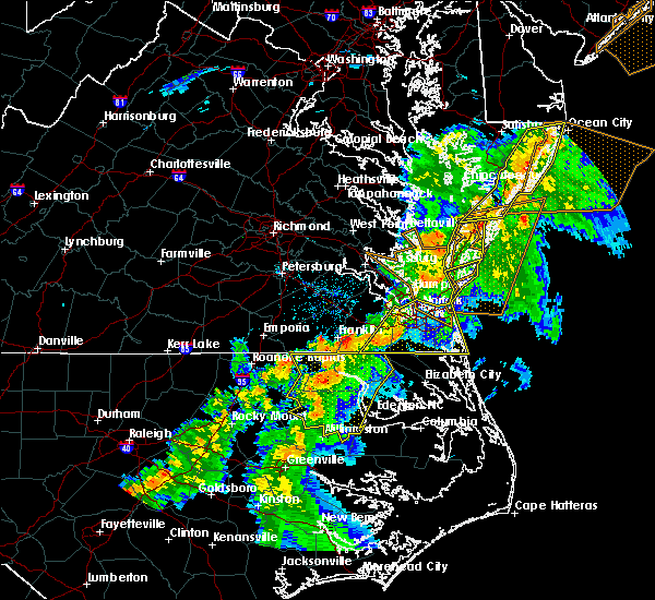 Radar Image for Severe Thunderstorms near Belle Haven, VA at 6/5/2019 6:46 PM EDT