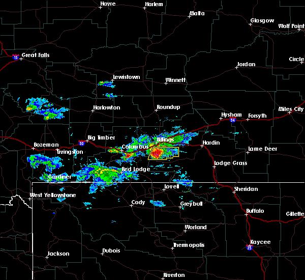Radar Image for Severe Thunderstorms near Pryor, MT at 6/16/2015 6:24 PM MDT