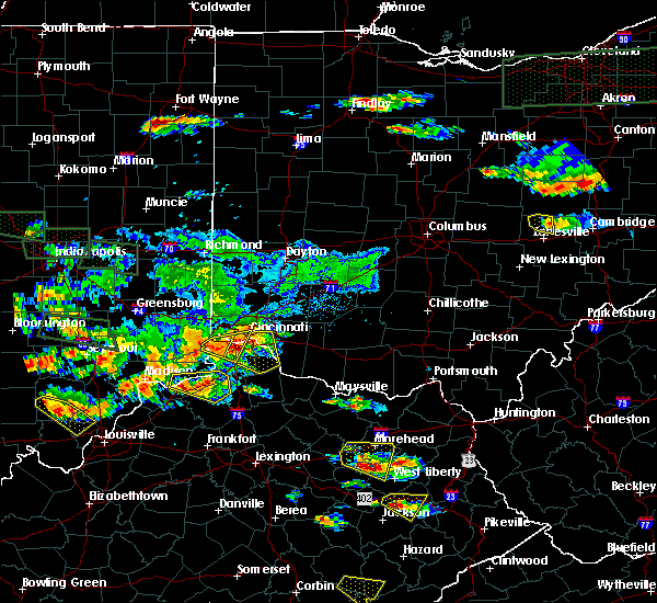 Radar Image for Severe Thunderstorms near Cincinnati, OH at 6/5/2019 6:58 PM EDT