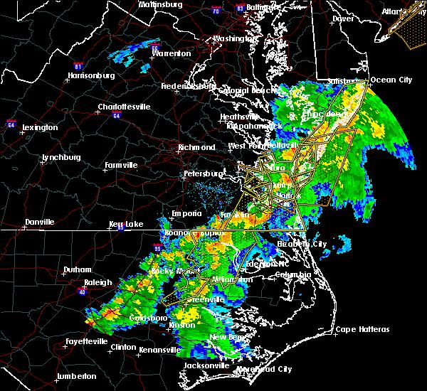 Radar Image for Severe Thunderstorms near Belle Haven, VA at 6/5/2019 6:58 PM EDT