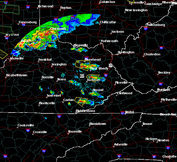 Radar Image for Severe Thunderstorms near Loyall, KY at 6/5/2019 7:01 PM EDT