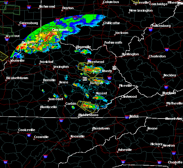 Radar Image for Severe Thunderstorms near Ezel, KY at 6/5/2019 7:01 PM EDT