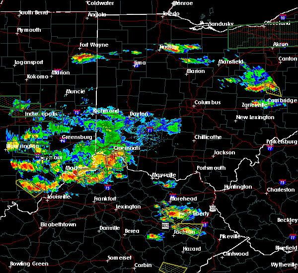 Radar Image for Severe Thunderstorms near Cincinnati, OH at 6/5/2019 7:09 PM EDT