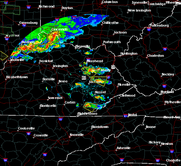 Radar Image for Severe Thunderstorms near Ezel, KY at 6/5/2019 7:16 PM EDT