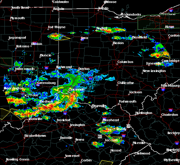 Radar Image for Severe Thunderstorms near Cincinnati, OH at 6/5/2019 7:21 PM EDT