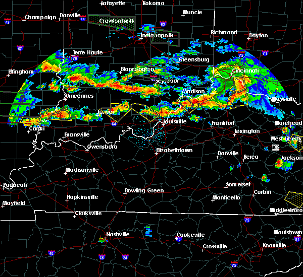 Radar Image for Severe Thunderstorms near Utica, KY at 6/5/2019 7:27 PM EDT