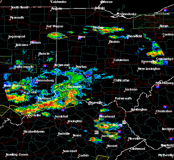 Radar Image for Severe Thunderstorms near Cincinnati, OH at 6/5/2019 7:29 PM EDT