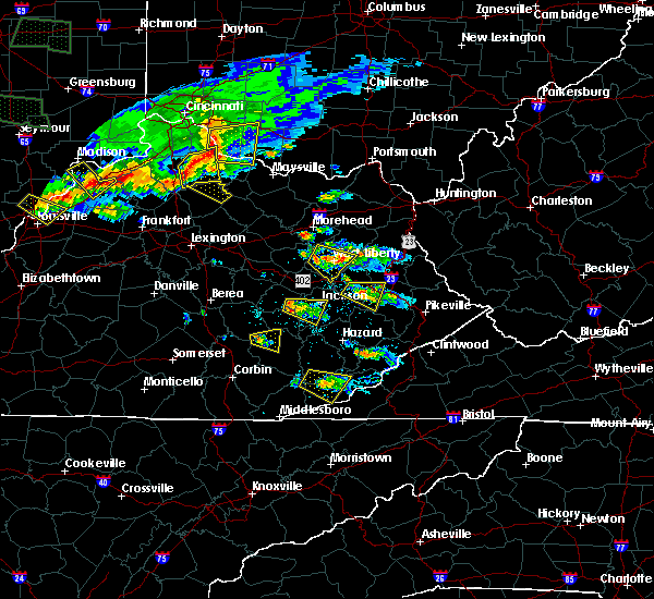 Radar Image for Severe Thunderstorms near Jackson, KY at 6/5/2019 7:34 PM EDT