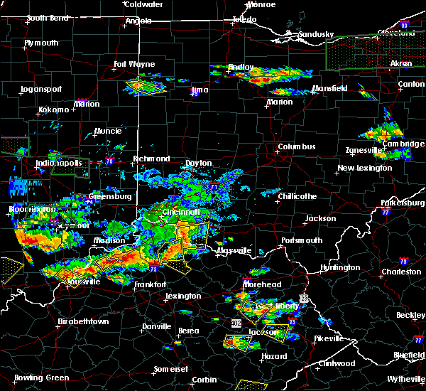 Radar Image for Severe Thunderstorms near Mount Olivet, KY at 6/5/2019 7:39 PM EDT