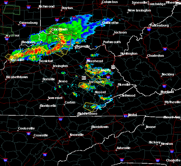 Radar Image for Severe Thunderstorms near Ezel, KY at 6/5/2019 7:42 PM EDT