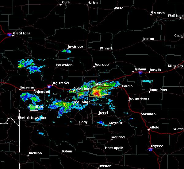 Radar Image for Severe Thunderstorms near Pryor, MT at 6/16/2015 6:37 PM MDT