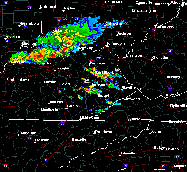 Radar Image for Severe Thunderstorms near Jackson, KY at 6/5/2019 7:51 PM EDT