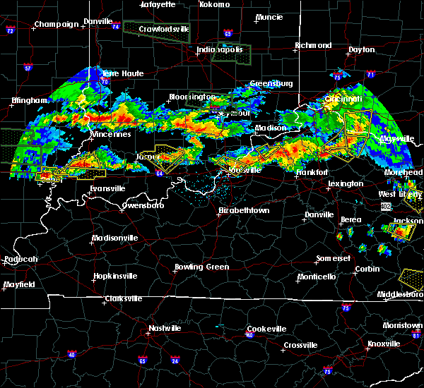 Radar Image for Severe Thunderstorms near Utica, KY at 6/5/2019 7:50 PM EDT
