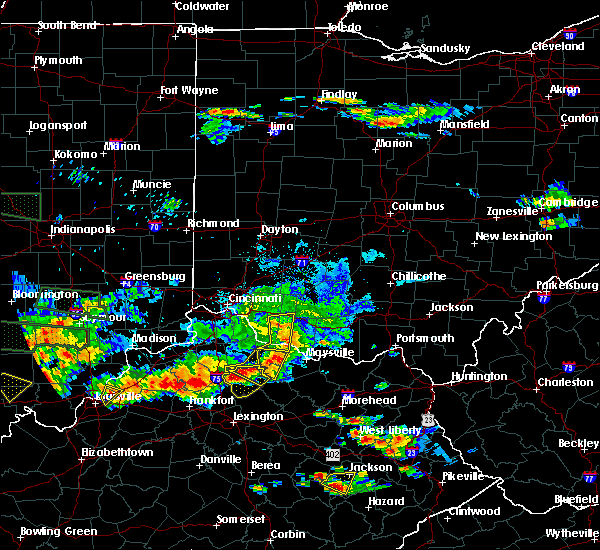 Radar Image for Severe Thunderstorms near Aberdeen, OH at 6/5/2019 8:01 PM EDT