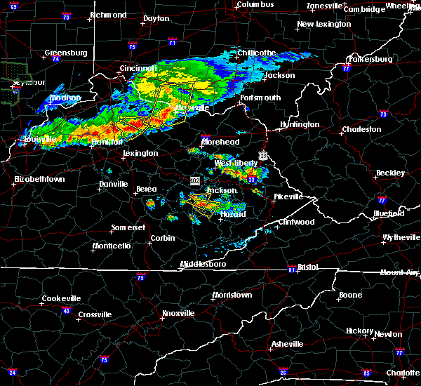 Radar Image for Severe Thunderstorms near Jackson, KY at 6/5/2019 8:13 PM EDT