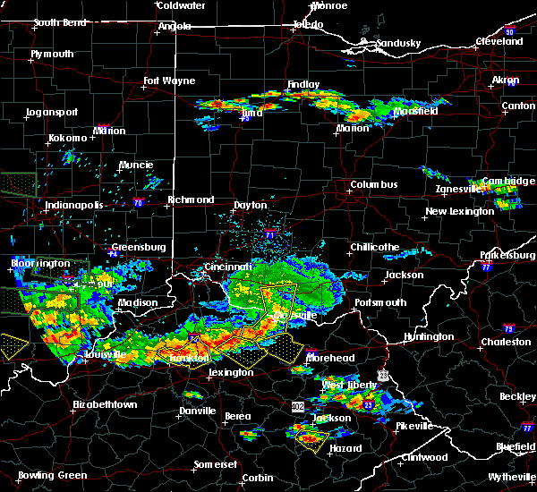 Radar Image for Severe Thunderstorms near Bentonville, OH at 6/5/2019 8:19 PM EDT
