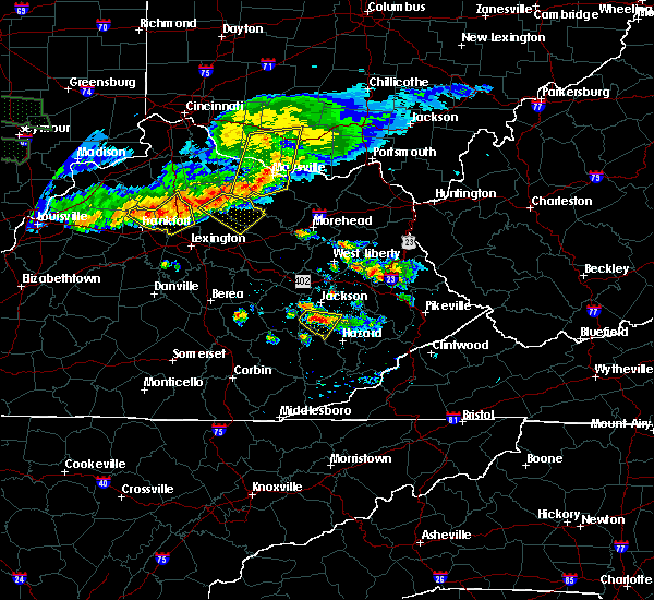 Radar Image for Severe Thunderstorms near Elizaville, KY at 6/5/2019 8:18 PM EDT