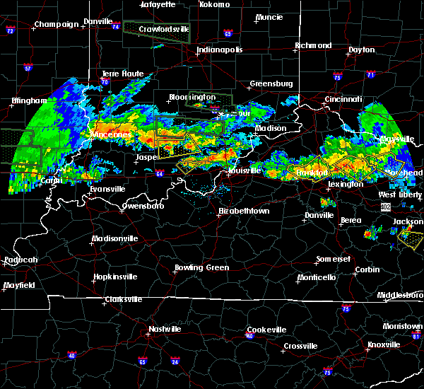 Radar Image for Severe Thunderstorms near Livonia, IN at 6/5/2019 8:33 PM EDT
