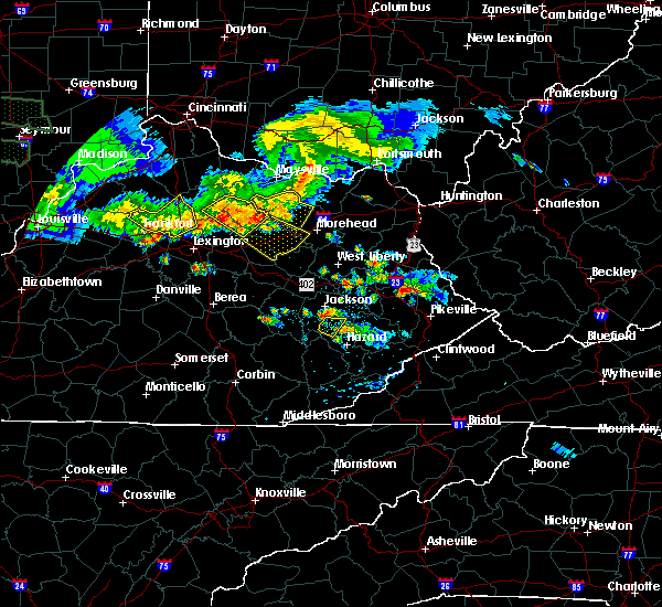 Radar Image for Severe Thunderstorms near Jeffersonville, KY at 6/5/2019 9:10 PM EDT