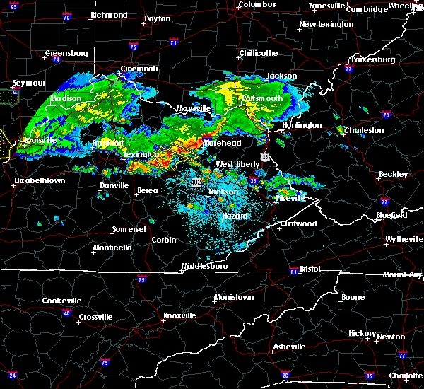 Radar Image for Severe Thunderstorms near Jeffersonville, KY at 6/5/2019 9:27 PM EDT