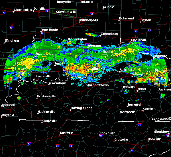 Radar Image for Severe Thunderstorms near Utica, KY at 6/5/2019 9:31 PM EDT