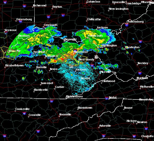 Radar Image for Severe Thunderstorms near Jeffersonville, KY at 6/5/2019 9:32 PM EDT